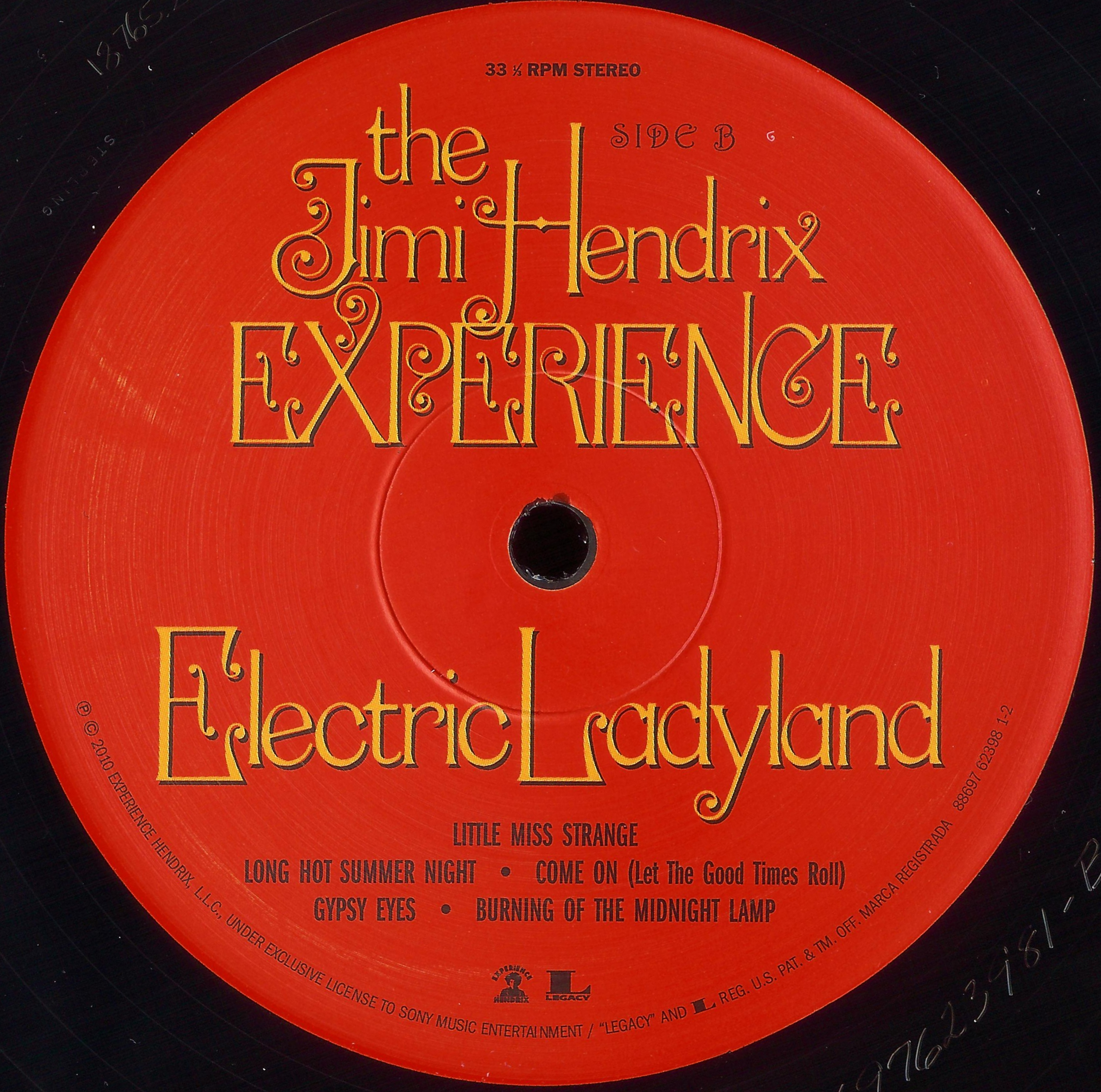 The Jimi Hendrix Experience Electric Ladyland 1968