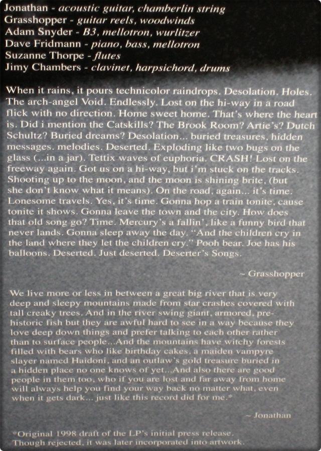 #1633 - Mercury Rev - Deserter's Songs (Gatefold Detail)