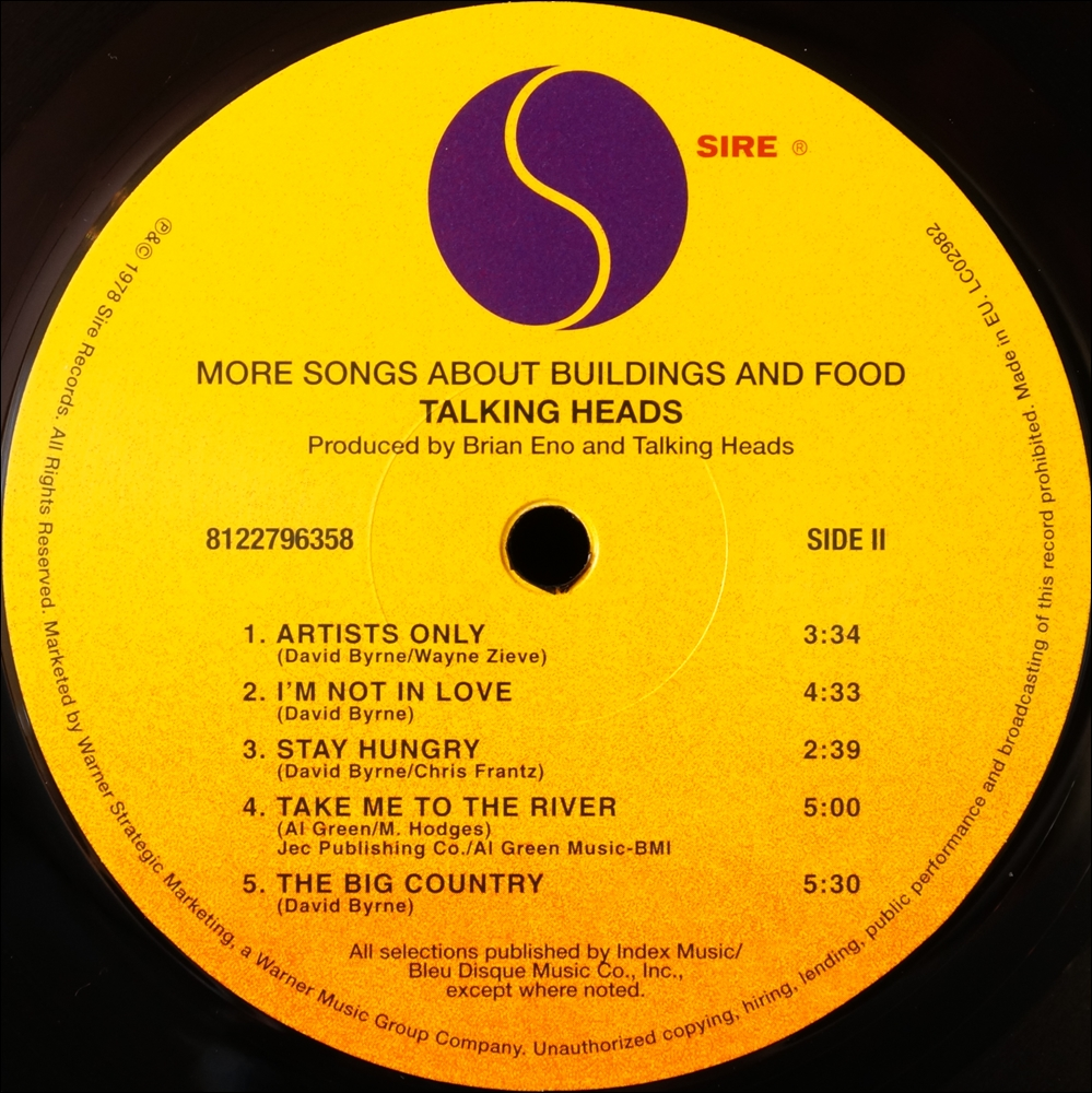 Talking Heads - More Songs About Buildings And Food = Mas Canciones Sobre Edificios Y Comida